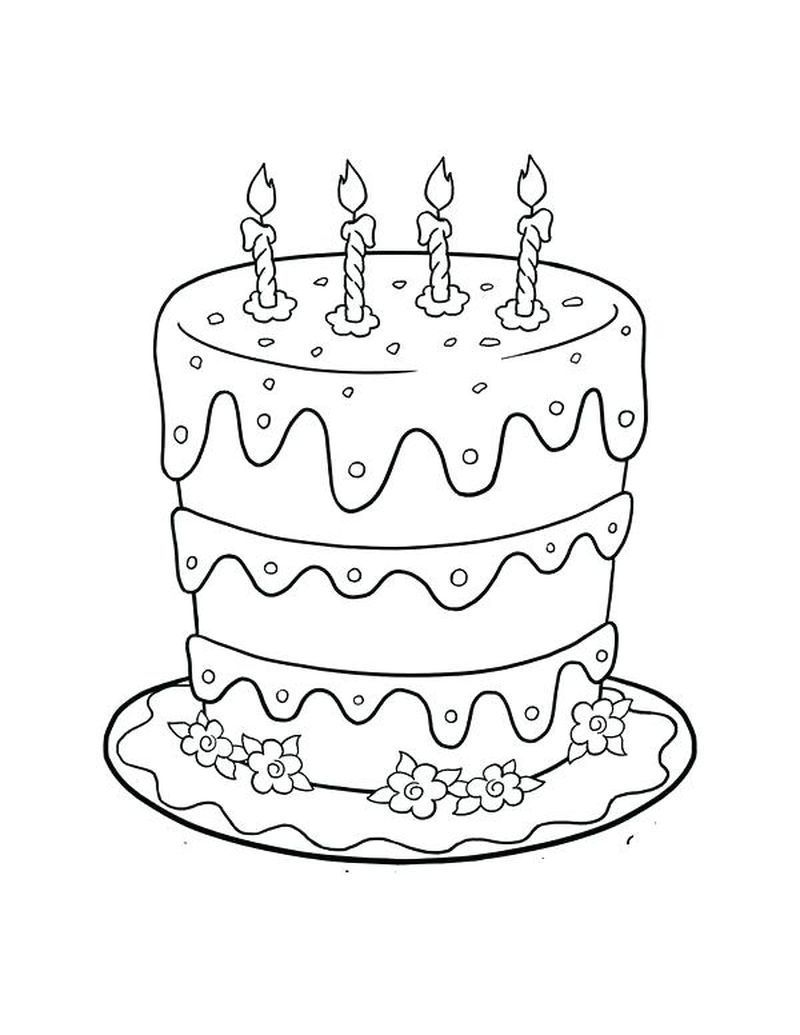 Birthday Cake Coloring Pages Birthday Coloring Pages Birthday