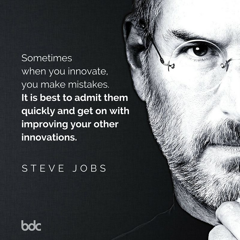 "Quote of the day ""Sometimes when you innovate, you make"