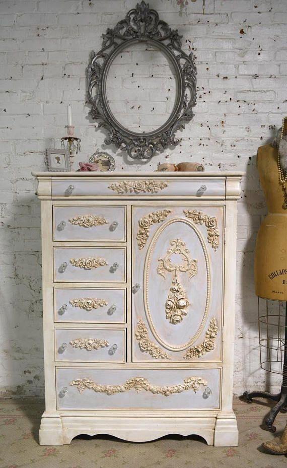 painted cottage chic shabby romantic french dresser armoire rh pinterest com