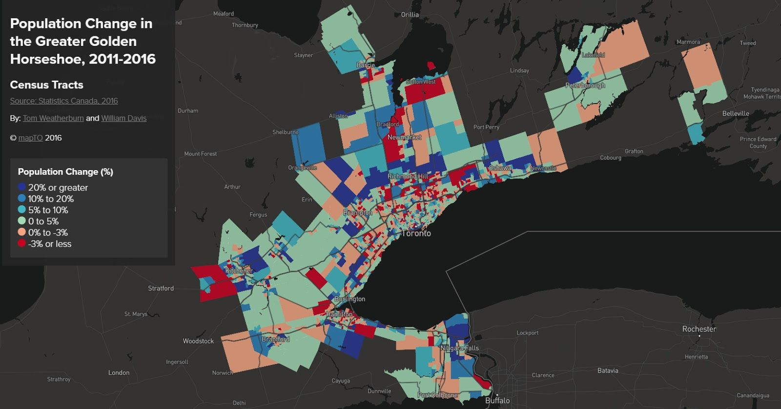 Population Change in the Greater Golden Horseshoe