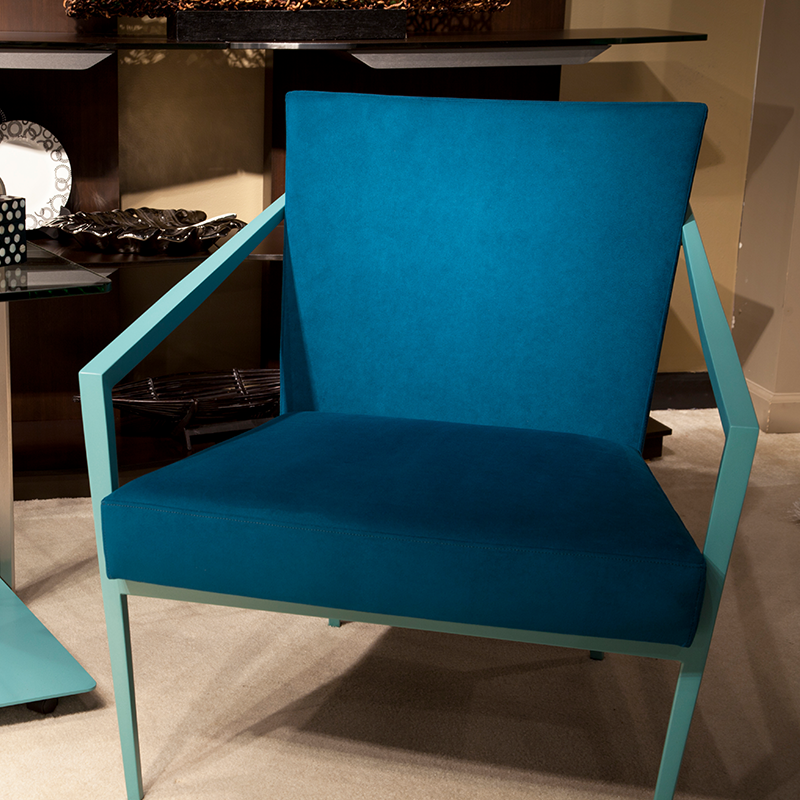 Elite Modern chair covered in luxurious Ultrasuede