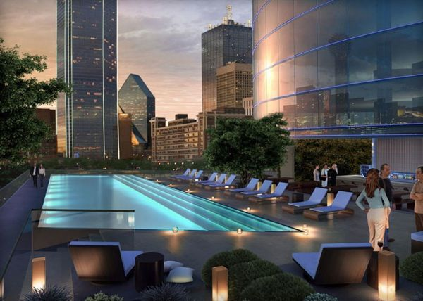 Drinks atop the fort worth omni hotel what a view for Hotels in dallas with indoor pools