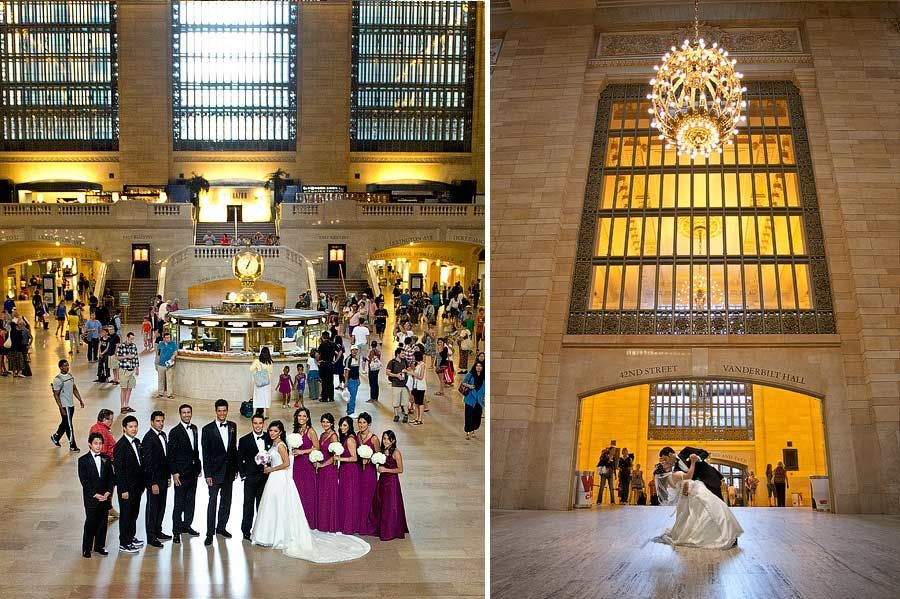 wedding ceremony new york city%0A New York Wedding pics in Grand Central