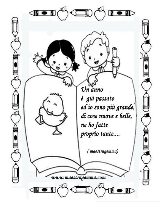 Cornicette copertine raccogliere scuola scuola materna for Maestra gemma diritti dei bambini