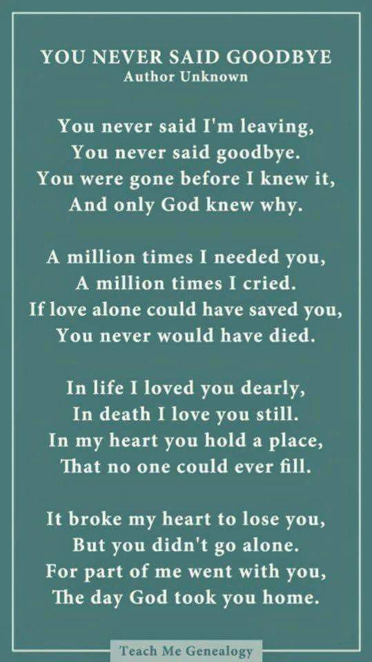 Pin by Susan Bailey Lindley on Photo Ideas | Goodbye poem