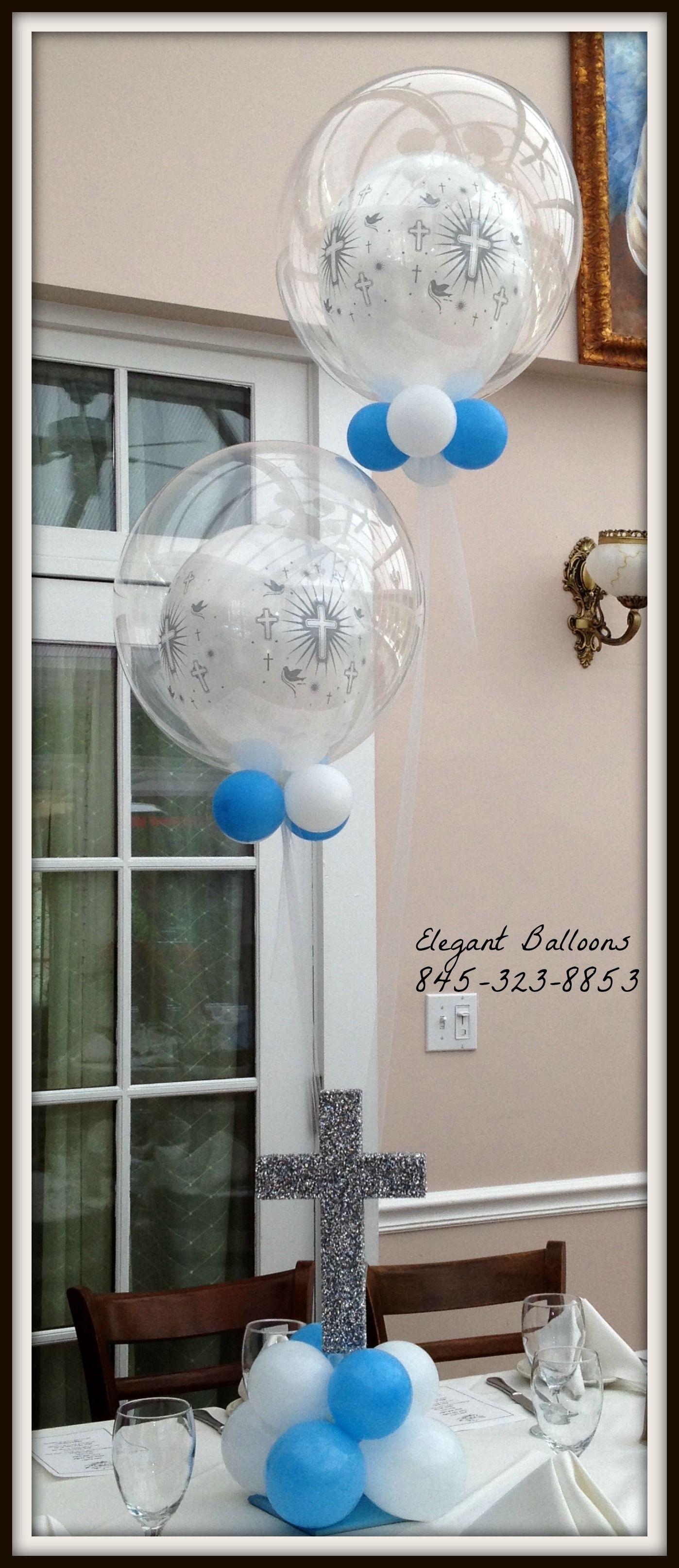 decobubbles qualaltex elegantballoons christening balloons rh pinterest com