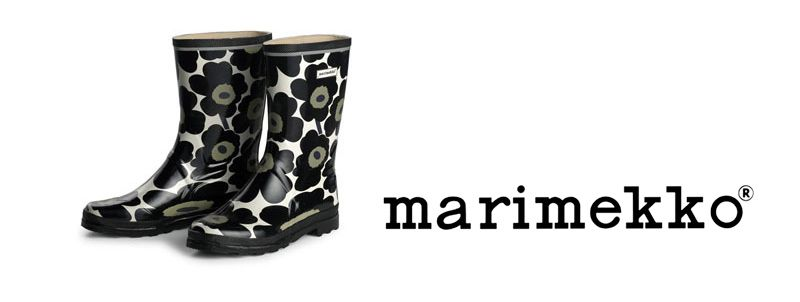 marimekko black floral rain boots - wish I could find these!!!
