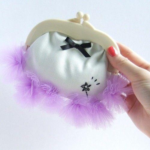 昼下がりお茶会ポーチ(紫) for girls...♡