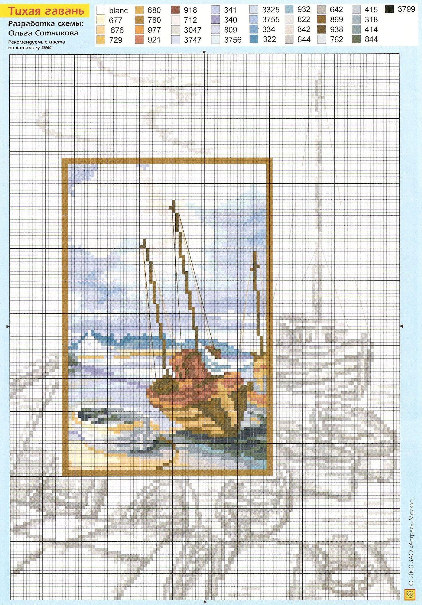 Радикал-Фото: Картинка   gobleni   Cross stitch sea, Cross ...