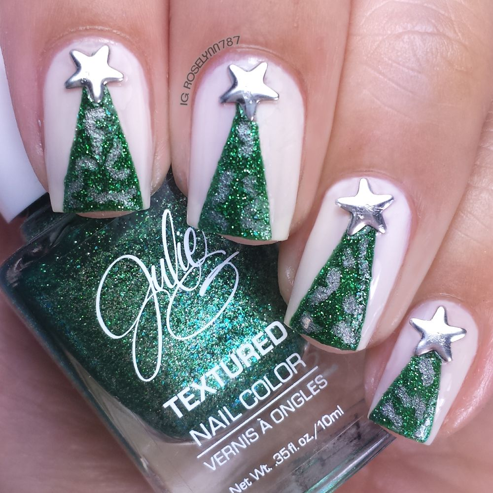 Christmas Trees - Full details on this mani and how I created it can be found on my blog ManicuredandMarvelous.com #nails #nailart #naildesign #cutenails #Christmas #HolidayNails