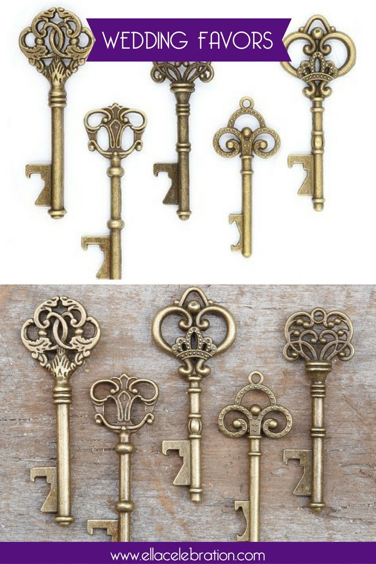 50 Assorted Key Bottle Openers - Antique Gold   Cheap party ...