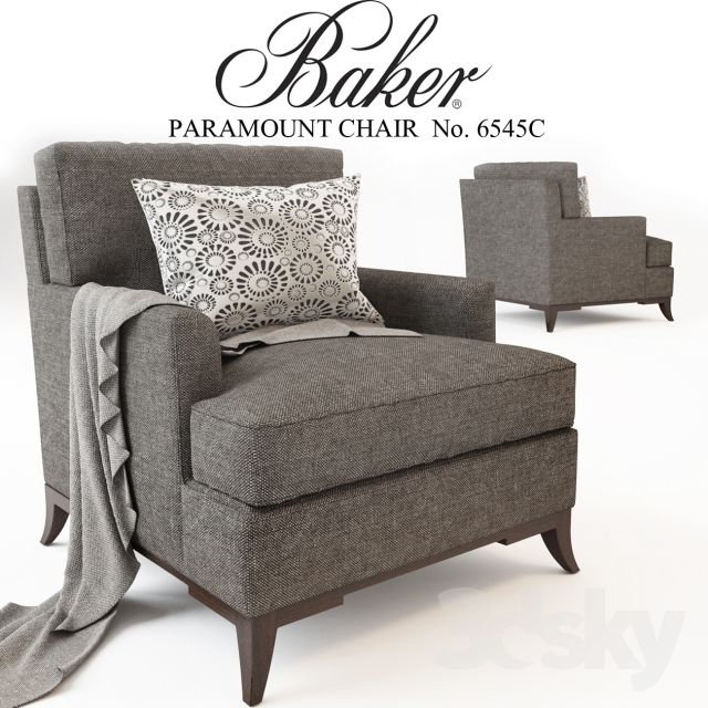 Gentil BAKER UPHOLSTERY_ PARAMOUNT CHAIR No. 6545C
