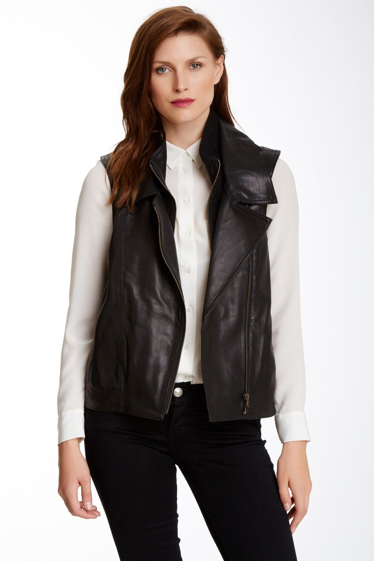 Cynthia Vincent | Oversized Leather Vest | Nordstrom Rack