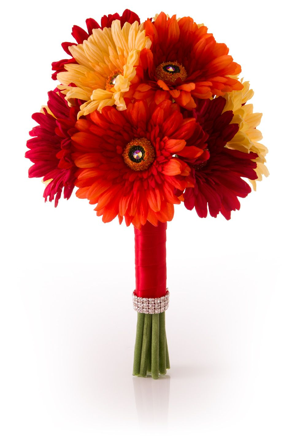 Gerbera daisy bridal bouquet in red yellow orange simply gerbera daisy bridal bouquet in red yellow orange simply gerbera in izmirmasajfo