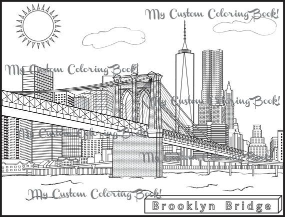 Instantly Download A Coloring Page Of The Magnificent Brooklyn