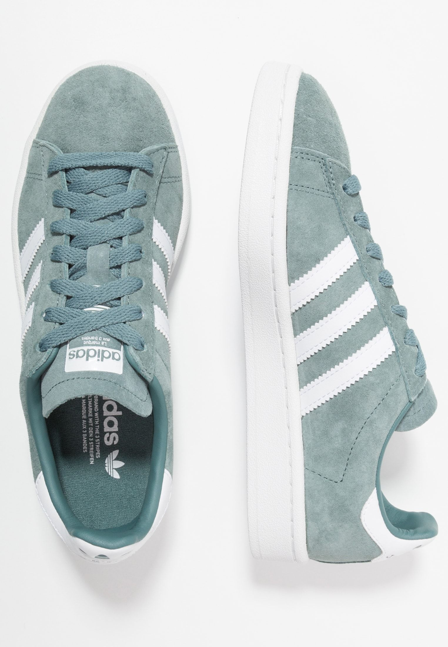 adidas Originals CAMPUS - Baskets basses - raw green/footwear ...