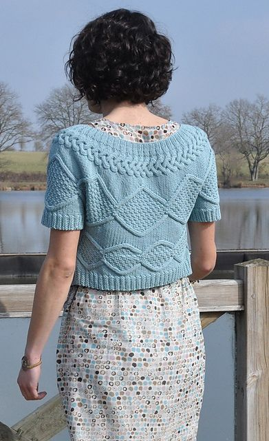Le gilet se tricote en un seul morceau et se commence par un devant.
