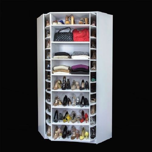 A Woman S Dream This Rotating Shoe Closet Acts As A Lazy Susan For Shoes Will Hold 150 Pairs Of Cleaning Closet Clothes Closet Makeover Closet Organization