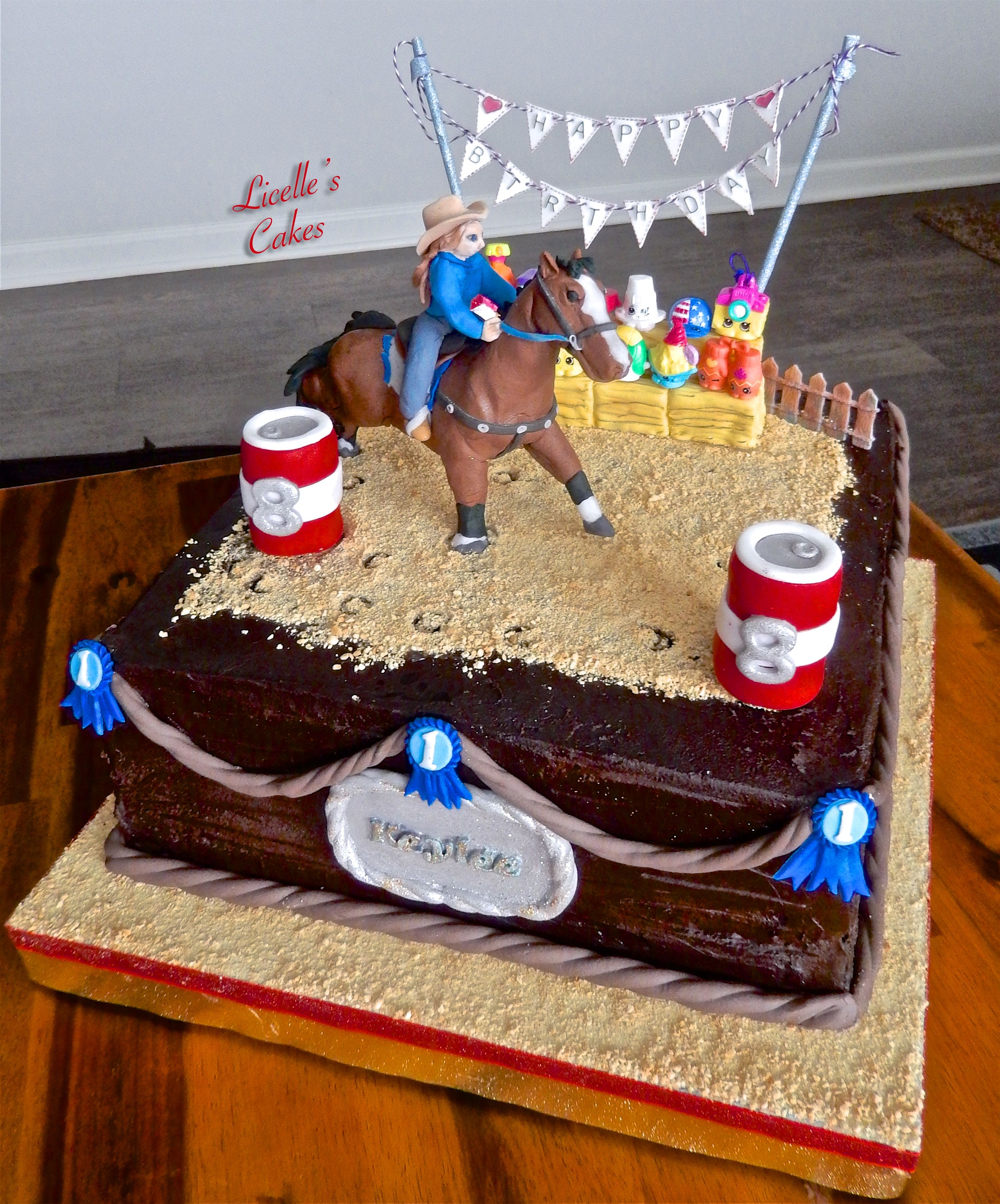 Barrel Racing Cake With Shopkins Store Bought Crowd And Handmade