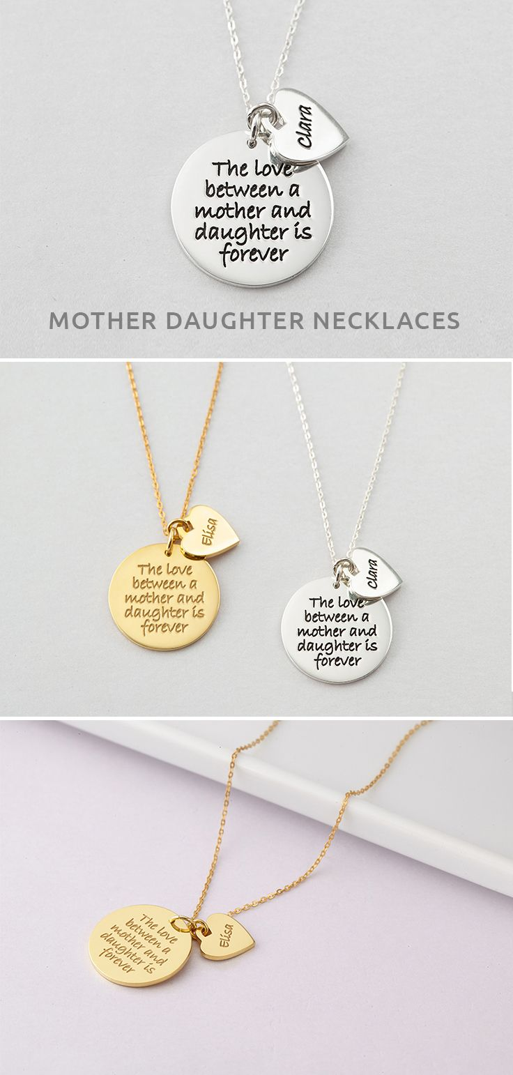 The love between a mother and daughter is forever necklace with name