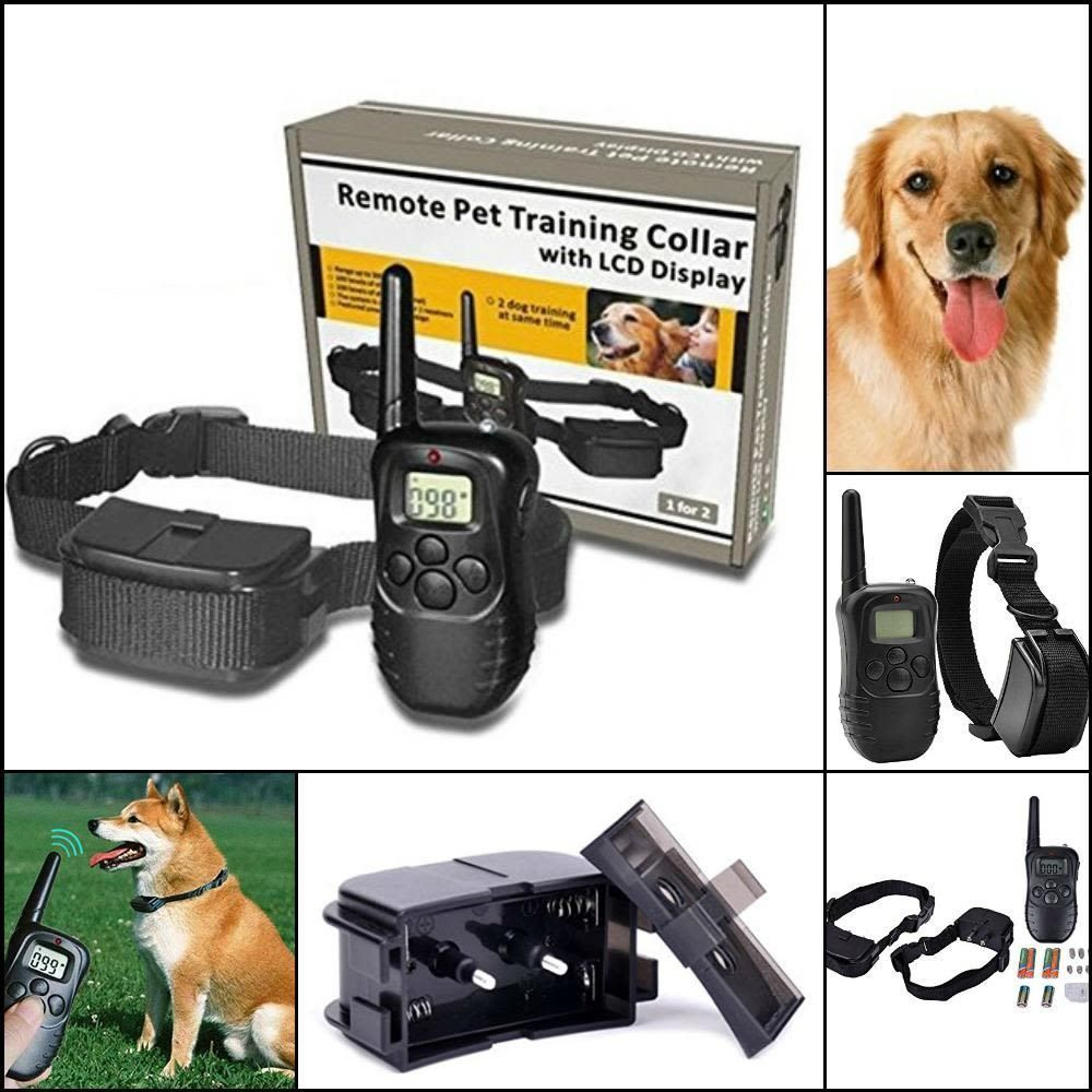 Waterproof Dog Training Collar With Remote Electric Shock