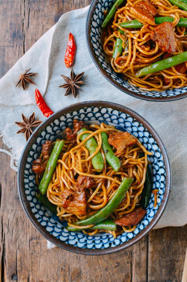 Bian Dou Men Mian (Steamed Noodles and Green Beans