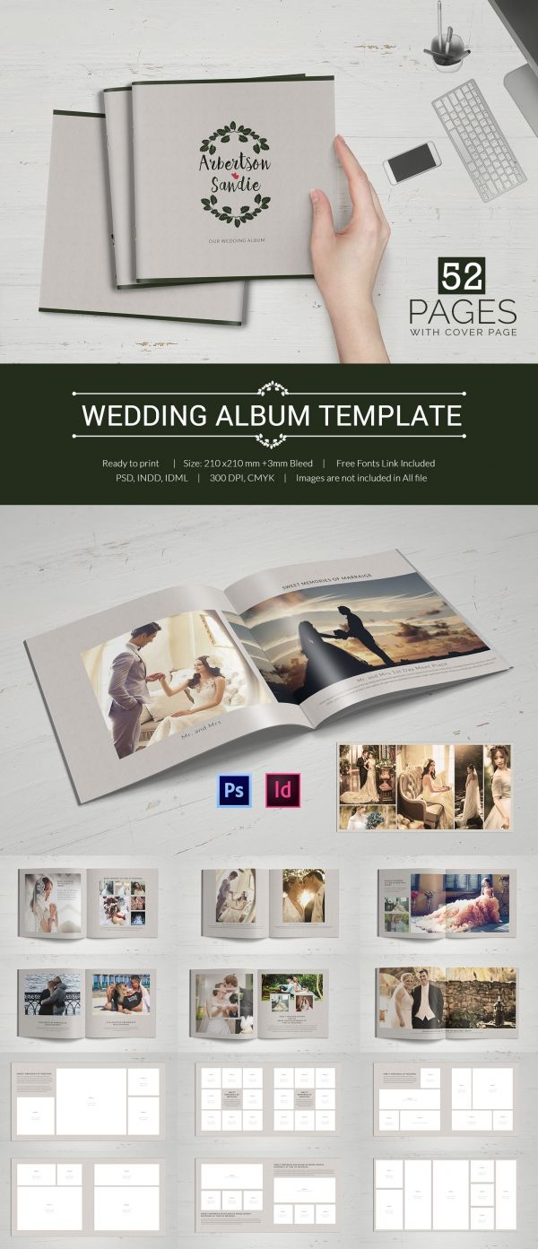 Wedding Album Template Indesign Format Download Photobook Pinterest