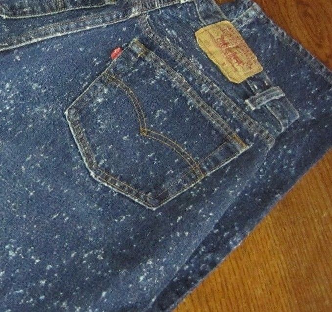 bcbacd3b648 vintage #80s levis 501 snow denim acid wash button fly jeans mens 31-32 x  29-30 from $34.95