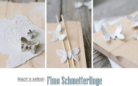 Der Kreative DIY Blog Für Wohnsinnige Und Selbermacher.: Fimo  Schmetterlinge Und Meine Veganen Lieblingsmuffins.