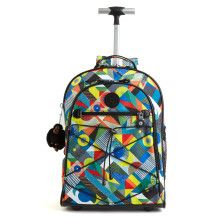 Sausalito Rolling Backpack - Abstract Beauty