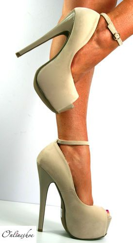 b534898601a Details about Womens Ankle Strap Sandals Stilletto High Heel Ladies ...