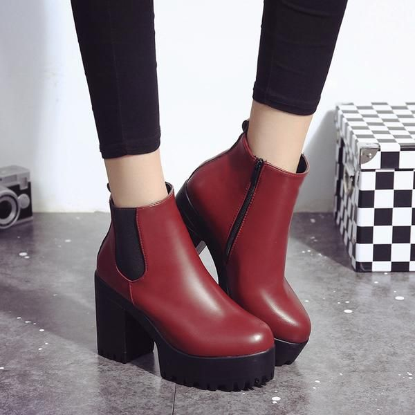 105429b6645e Description Women Boots Square Heel Platforms Leather Thigh High Pump Boots  Shoes. 100% Brand new and high quality. Casual
