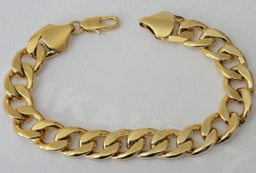 c4c4061c555 Pulseira em Aço Inox Maciço. Modelo  Grumet Italiana Dourada 13mm.  Simplesmente Elegante!!!