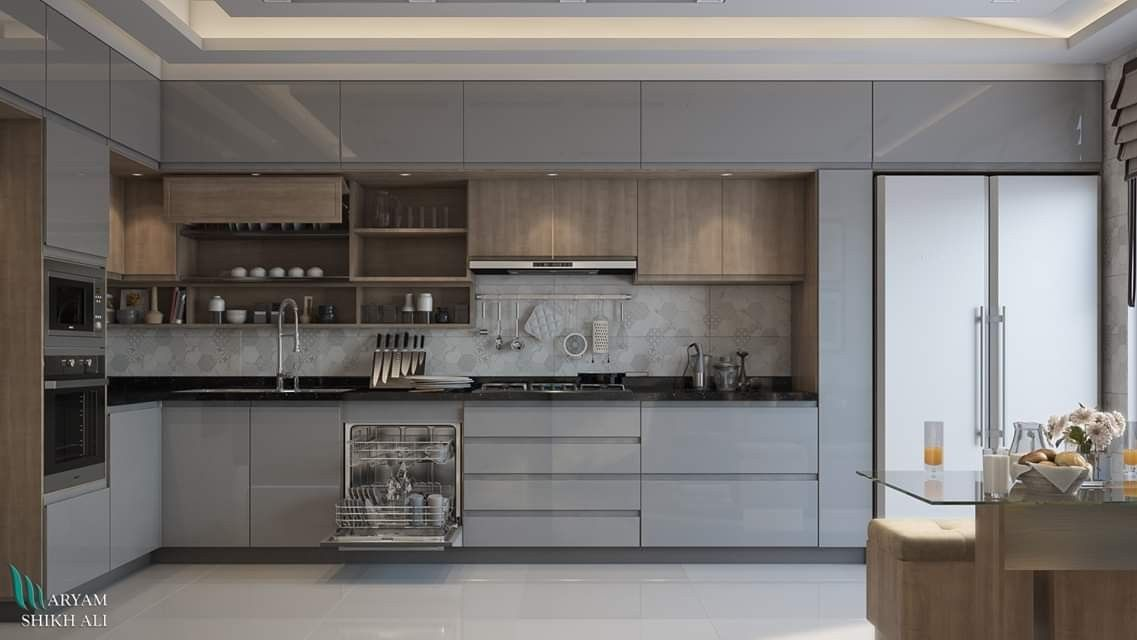 Pin By Design Office Siedlce On Interior Design Modern Kitchen Kitchen Design Small Kitchen Design