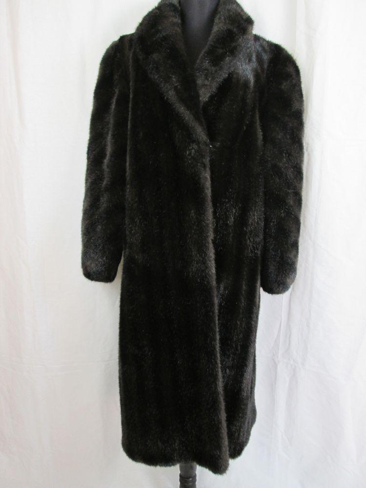 Boulevard East Black Faux Fur Coat Long Women S Full Length Jacket Size Small Black Faux Fur Coat Faux Fur Coat Long Coat Women