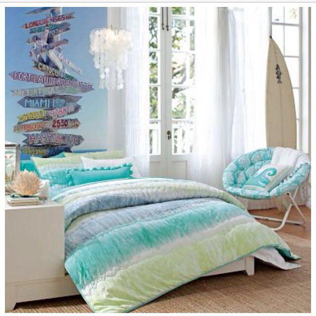 25 Cool Beach Style Bedroom Design Ideas Tween Girl Bedroom Bedroom Design Bedroom Themes