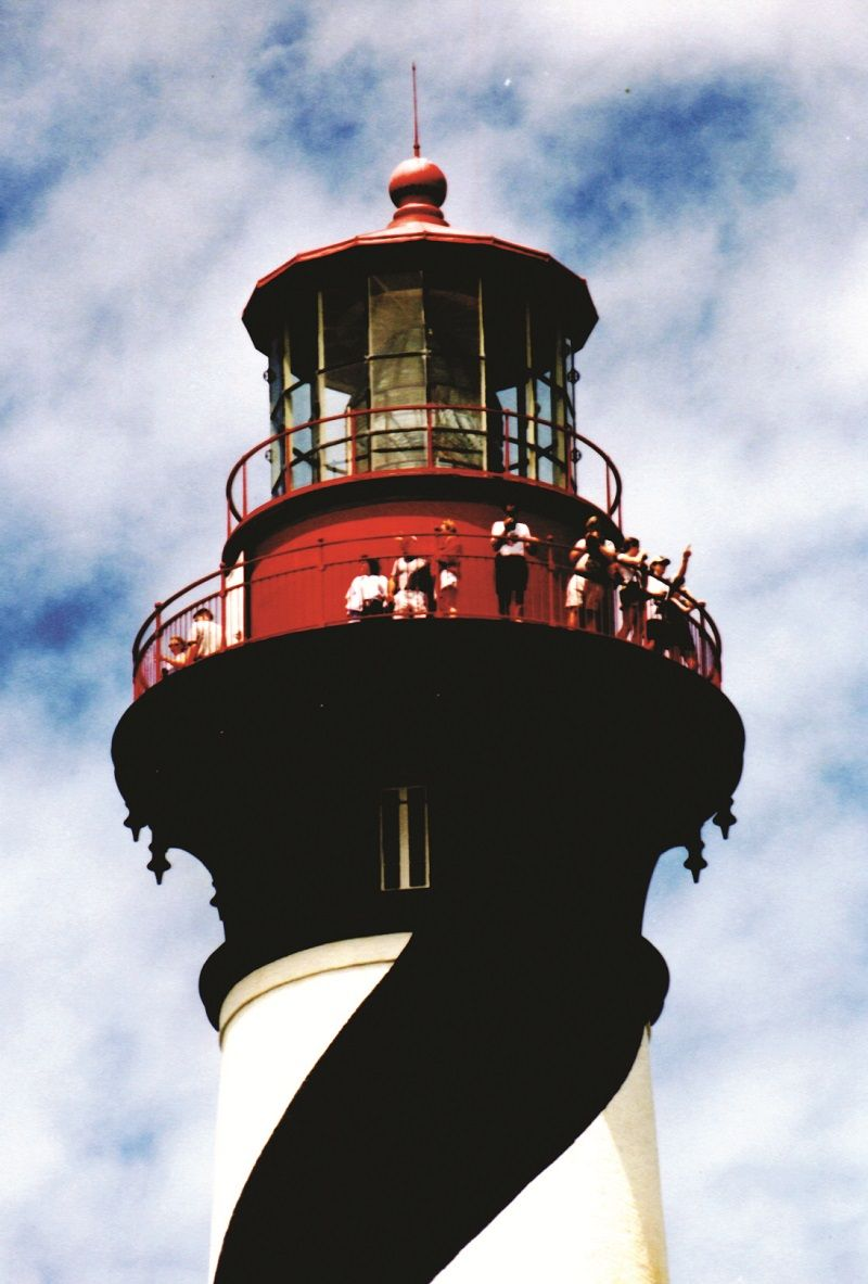 With its predecessor a Spanish watchtower built in the late 1500's, the St. Augustine Lighthouse stands as the oldest, permanent aid to navigation in North America (photo courtesy of Floridashistoriccoast.com)