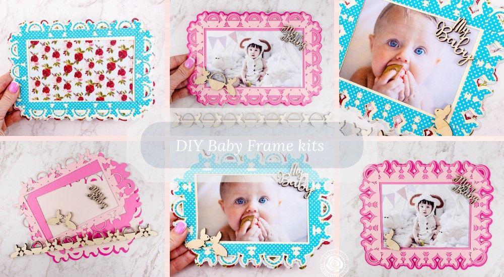 Diy Baby Frame Scrapbook Kits Include Wood Embellishments