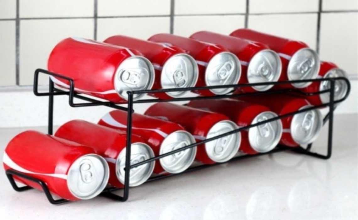 Beverage Can Dispenser, 12 Can Beverage Dispenser, Steel