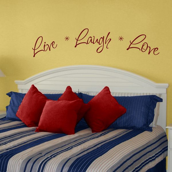 Live laugh love wall decal sticker graphi c victoria