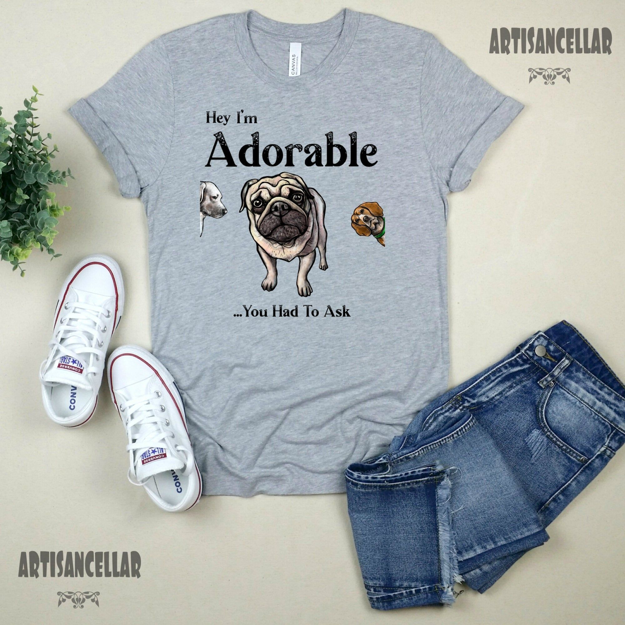 Hey I'm AdorableYou Had To Ask Humorous Quote JPG PNG