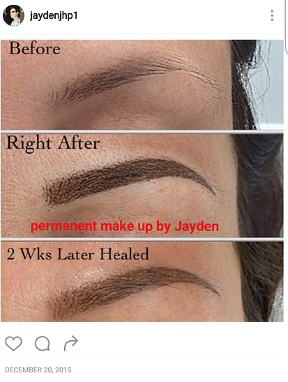 J Lash studio specialises in microblading - the most natural type of