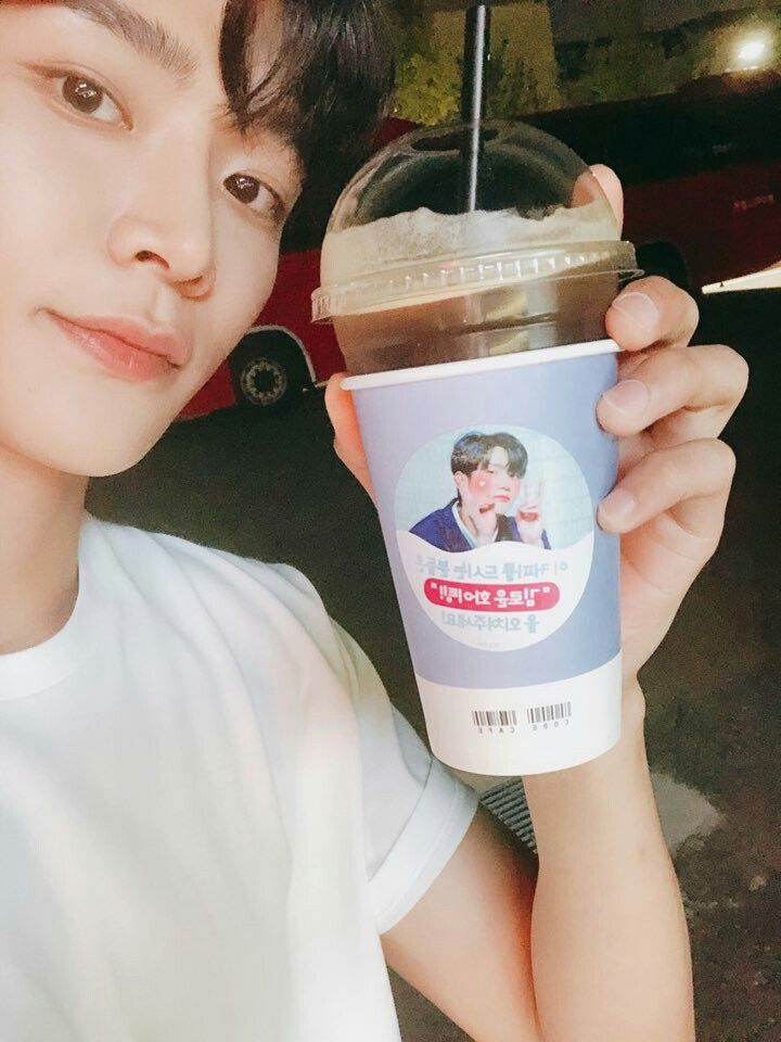 Pin By Dreams On Kim Rowoon Disposable Coffee Cup Dunkin Donuts Coffee Cup Sf9