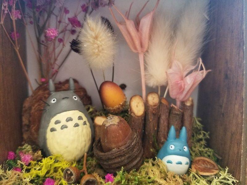 てのひらに広がるトトロの世界 Br お花屋さん kajuen 花樹園 のお花 お花屋さん 生花店 開業祝い