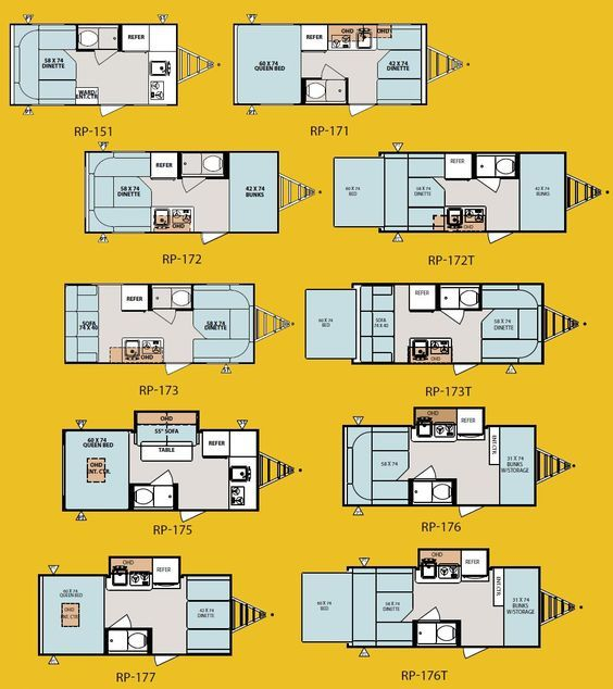 Forest River R Pod Ultra Lite Travel Trailer Floorplans