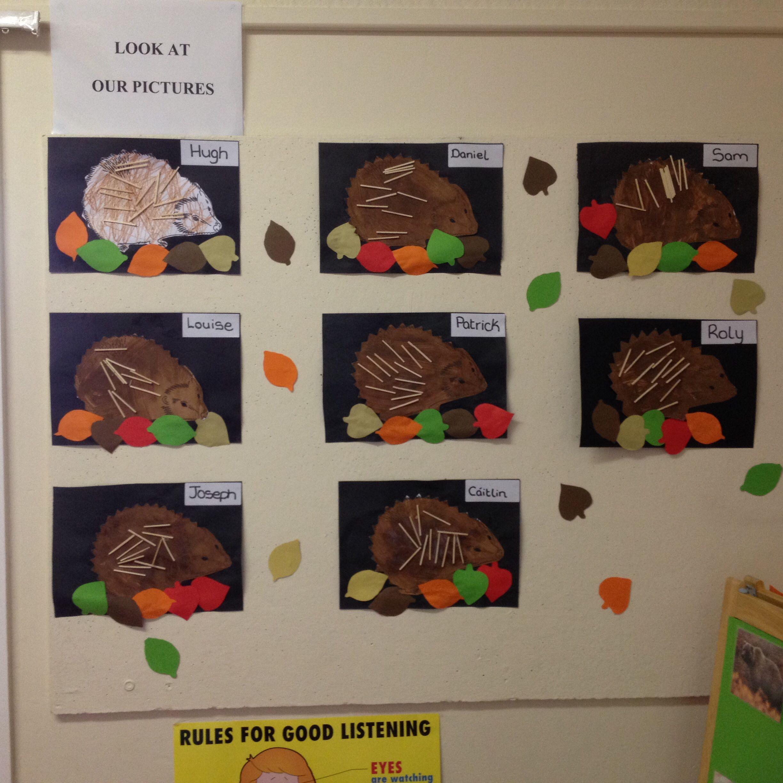 Our Hedgehogs For Hibernation Theme