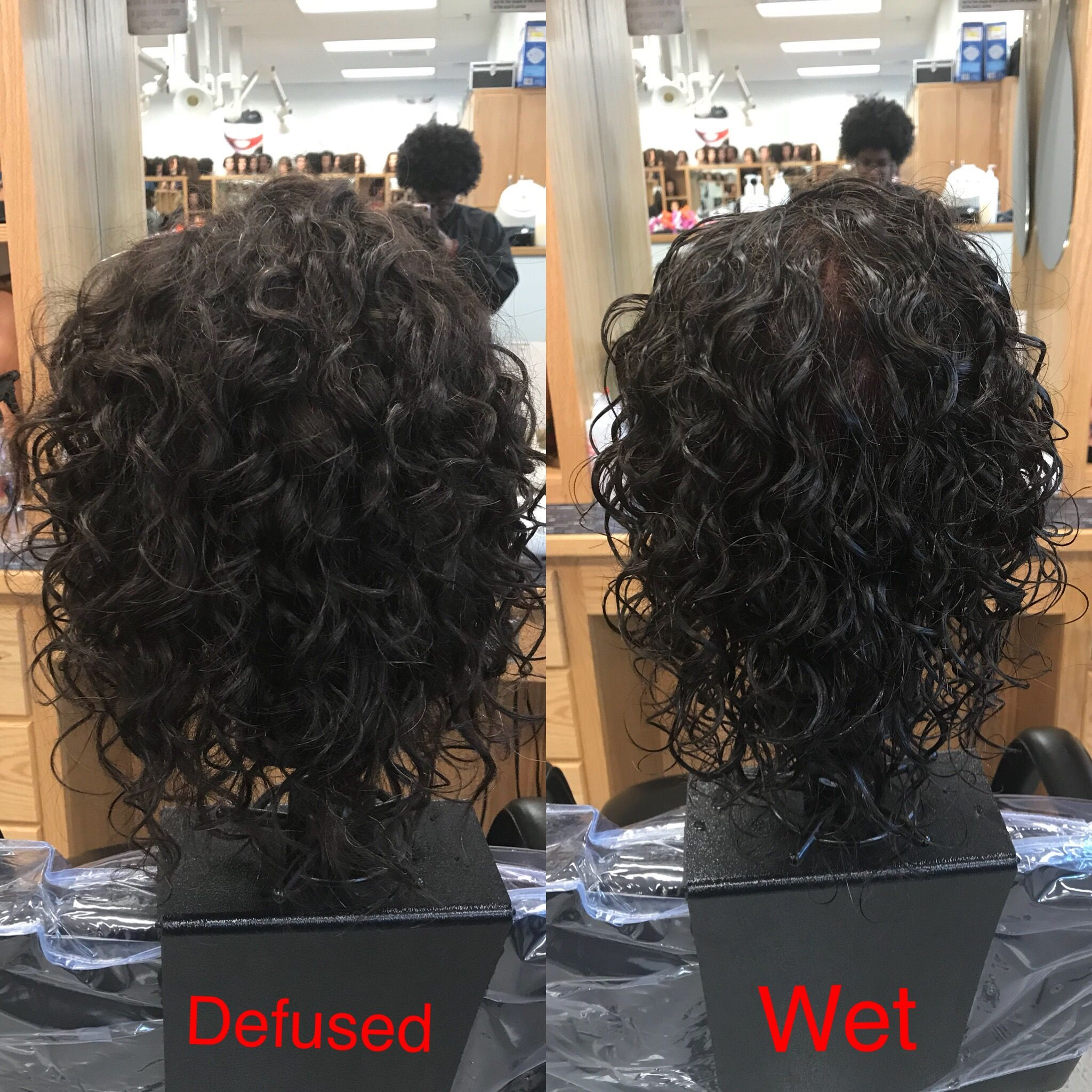 Live Spiral Perm On White And Grey Perm Rods