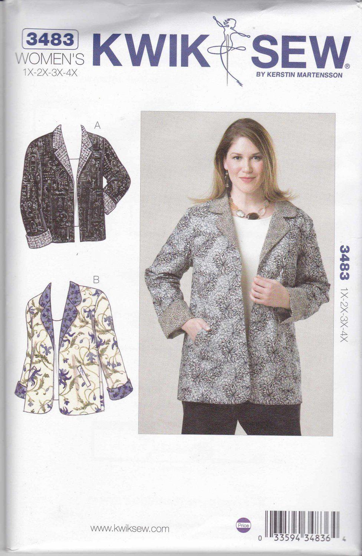 Kwik sew sewing pattern 3483 womens plus size 1x 4x approx 22w kwik sew sewing pattern 3483 womens plus size 1x 4x approx 22w 32w jeuxipadfo Choice Image