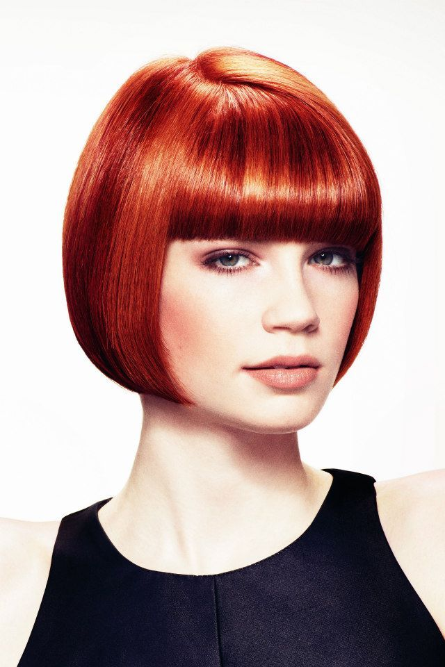 Classic Red Bob With Bangs Red Bob Hair Short Red Hair