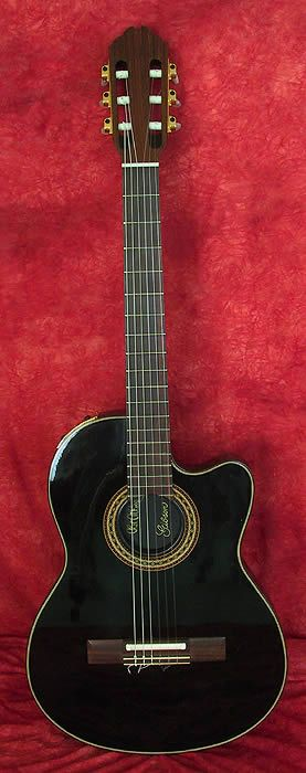 gibson 1987 chet atkins ce nylon narrow neck classic electric acoustic black rosewood. Black Bedroom Furniture Sets. Home Design Ideas